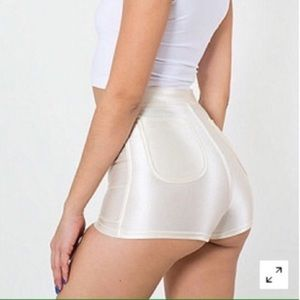 NEW American Apparel pearl white Disco Shorts XS